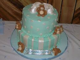 teddy themed baby shower teddy baby shower cake cakecentral