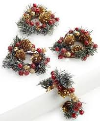 christmas napkin rings table linens lenox holiday collection napkin ring accessories pinterest