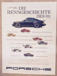 porsche 911 poster fs 1989 porsche 911 25 years racing history factory poster