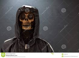human skull on a black background halloween day or ghost festival