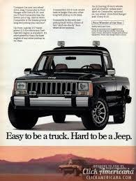 jeep comanche the new two wheel drive jeep comanche 1986 click americana