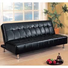 Tufted Faux Leather Sofa Chesterfield Style Black Leather Sofa Classic Scroll Arm Sofa