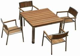 Teak And Stainless Steel Outdoor Furniture by Irresistible Teak Patio Furniture Sets Of Square Outdoor Dining