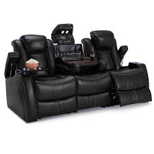 Theater Reclining Sofa Seatcraft Omega Leather Gel Home Theater Seating Power Recline