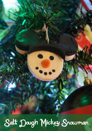salt dough mickey snowman ornaments