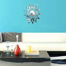 silver sun mirror shopwiz me full image for 27pcs diy 3d sun stickers creative mirror sticker removable wall home decor room