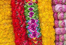 hindu garland flower garlands for hindu religious ceremony stock photo picture