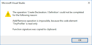 completed definition c the operation create declaration definition could not be