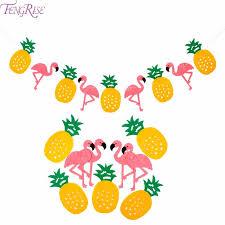 Tropical Party Themes - fengrise flamingo pineapple banner flamingo hawaiian luau tropical