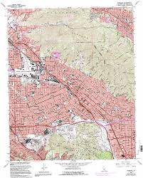 San Francisco Topographic Map by Burbank Topographic Map Ca Usgs Topo Quad 34118b3