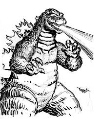 godzilla fire breath coloring pages color luna