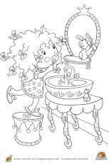 princesse cuisine coloriage princesse cuisine sur hugolescargot com