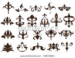 deco design elements vintage ornaments stock vector 599530664