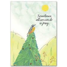 all we can do is pray card