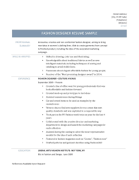 Fashion Resume Examples by Fashion Resume Examples Free Resume Example And Writing Download