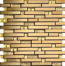 golden mosaic tiles wall mosaic panles floor mosaic cladding glass