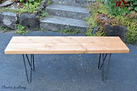 x leg wooden bench bench decoration