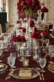 Red And Gold Reception Decoration Red And Gold Wedding Monroe Golf Club Simply Beautiful Events