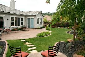 Archaic Landscaping Ideas For Front House With Ountdoor Patio And