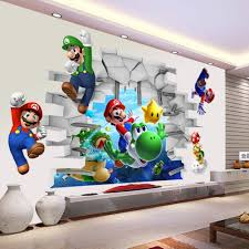China Home Decor by Aliexpress Com Buy Kids Nursery Super Mario Bros 3d View Art