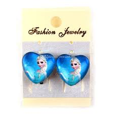 kids clip on earrings party earrings frozen earring clip kid jewelry new frozen elsa