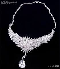 bride necklace images Two wear shiny diamond bride necklace forehead jewelry for sale jpg