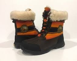 s winter boots size 9 ugg butte pendleton np grand winter boots brown leather