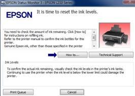 resetter epson l210 terbaru 100 work cara reset ink waste is full epson l110 l210 l300 l350