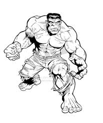 drawing hulk kids coloring