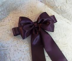 eggplant ribbon eggplant satin flower girl sash satin ribbon sash