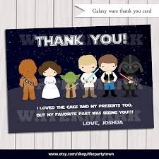 wars thank you cards galaxy wars thank you card note card wars thank you