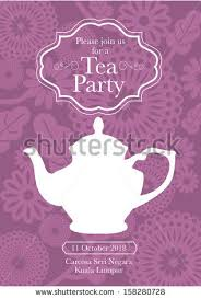 tea party invitation stock images royalty free images u0026 vectors