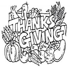 free clip of thanksgiving day clipart black and white 7612