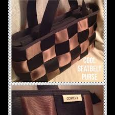 Seatbelt Purse 74 Off Comely Handbags Black Brown Seatbelt Purse From T U0027s