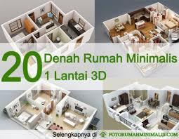 layout ruangan rumah minimalis 20 denah rumah minimalis 1 lantai 3d