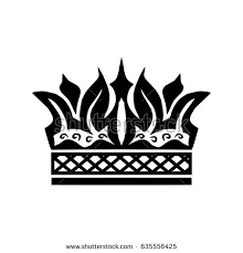 illustration shape crown tattoo design element stock vector