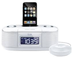 ipod iphone alarm clock speaker dock iluv vibro i bed shaker 30 pin