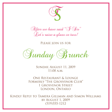 wedding brunch invitations wording 13 best images of brunch invitation sle wedding brunch