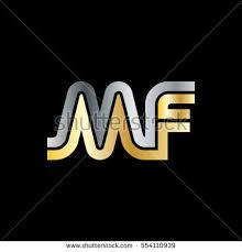 mf design initial letter mf linked design logo stock vector 554110939