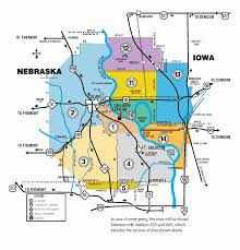 Nebraska State Map by Fort Calhoun Station Epz Evacuation Route Map Nebraska Emergency