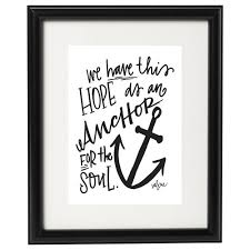 Love Anchors The Soul Print - anchor for the soul art print valerie wieners art