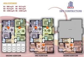 500 sq ft 1 bhk 1t apartment for sale in devi constructions