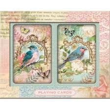 punch studio flora bird set of cards
