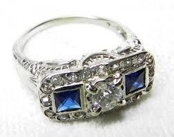 antique engagement ring 1 ct tdw old european cut 18k diamond ring