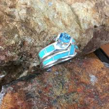 blue rock rings images Inlaid jewelry diamond and gemstone jewelry opal jewelry JPG