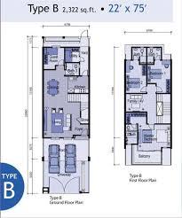 Double Story House Floor Plans Floor Plan Double Storey Terrace House House Plans