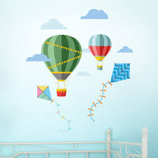 hot air balloon and kites wall stickers stuck 4 gifts hot air balloon and kites wall stickers 010 hot air balloons and kites feature