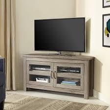 Corner Wood Tv Stands Walker Edison Black Corner Tv Stand For Tvs Up To 48