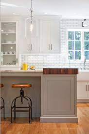 quartz countertops white kitchen island with butcher block top