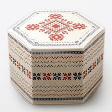 candy apple supplies wholesale new christmas gingerbread snowflakes hexagonal box candy apple
